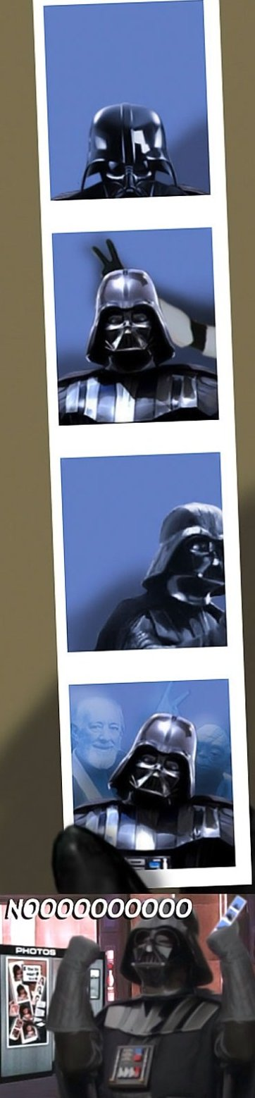 Darth Vader In a Photobooth