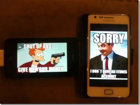 And the iPhone Samsung debate rages on