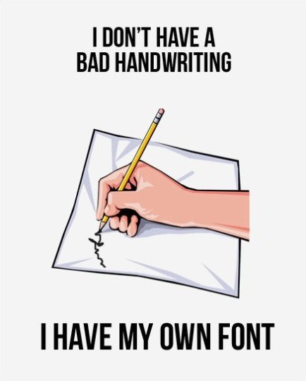 Bad Handwriting