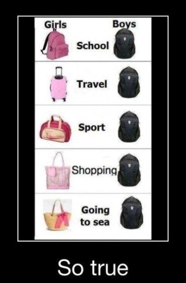 Boys vs. Girls – Bags