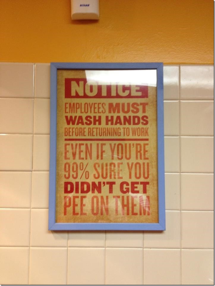 Employees must wash hands…