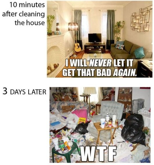 Every Time I Clean The House