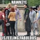 Hawkeye is Feeling Fabulous