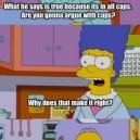 Homer Arguing