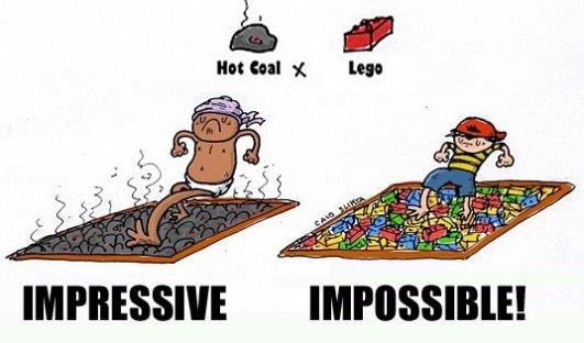 Hot Coal vs. Lego