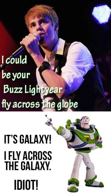 Justin Bieber and Buzz Lightyear
