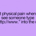 That Physical Pain…