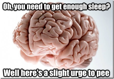 Scumbag brain making you get up in the middle of the night