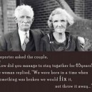 The secret for couples to stay together
