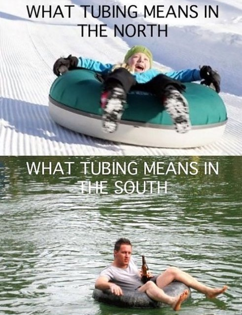 Tubing in The North and South
