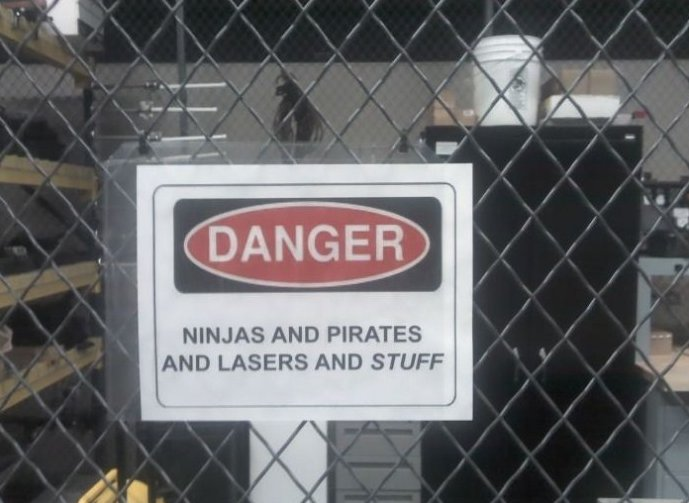 Danger! Lasers and Stuff
