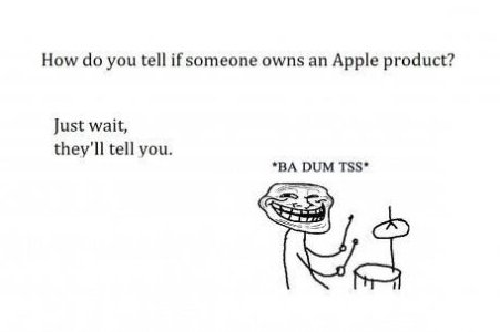 How do you tell if someone owns an Apple product?