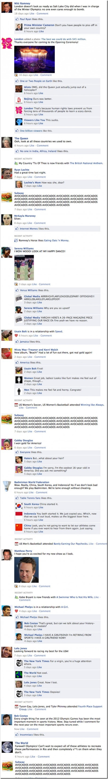 If the Olympics had been on the Facebook newsfeed