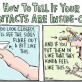 Instructional Contact Lenses Comic