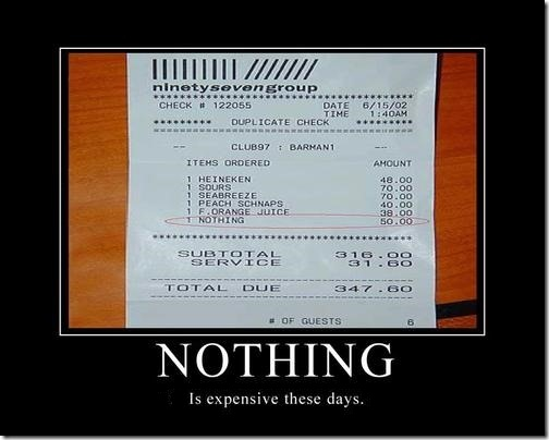 Nothing is expensive these days…