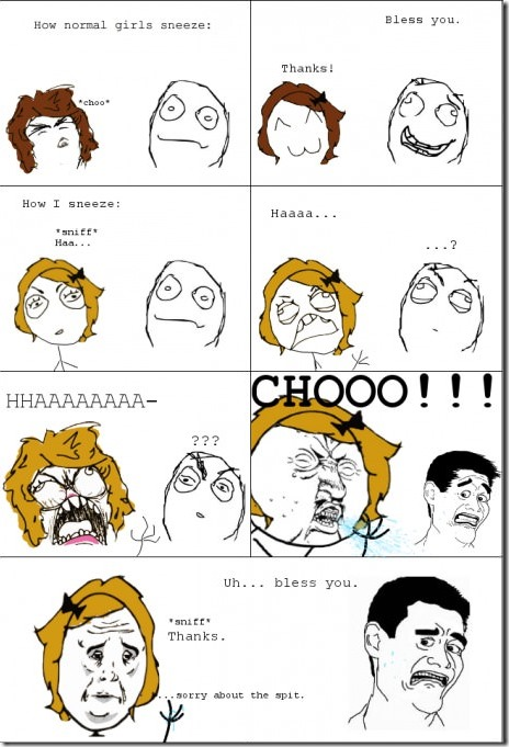 Sneezing Like a Lady