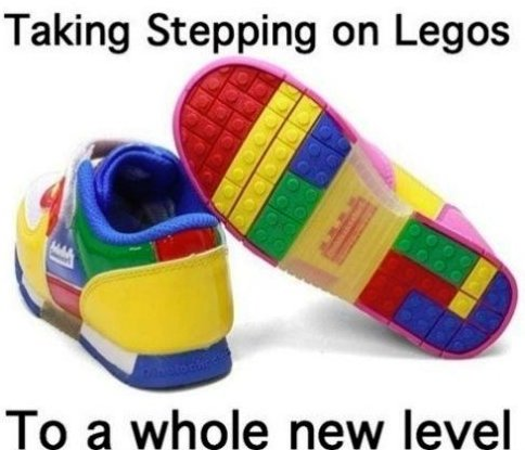 Stepping on Legos