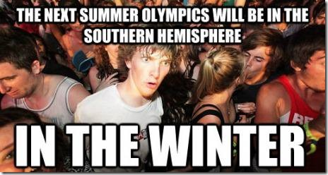 Sudden realization about Olympic Games