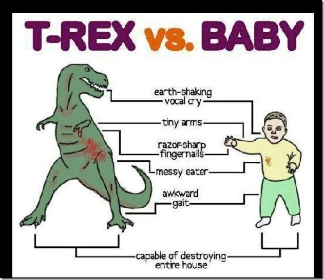 T-Rex vs. Baby