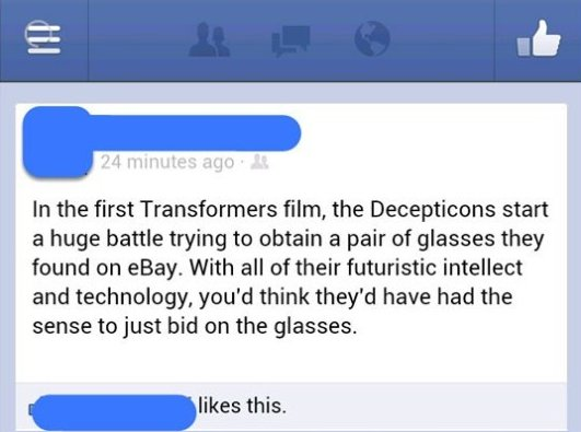 Transformers Movie Plot Hole