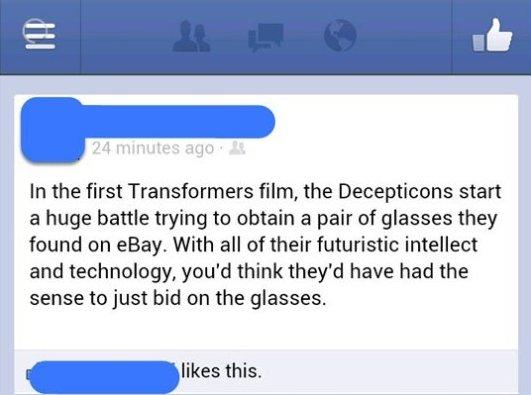 Transformers Movie Plot Hole