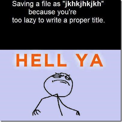 We all do that…