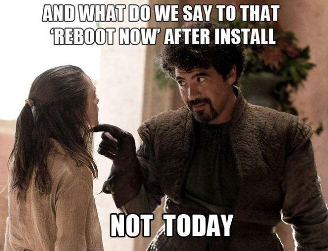 Reboot Now?