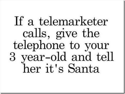 What to do with a telemarketer