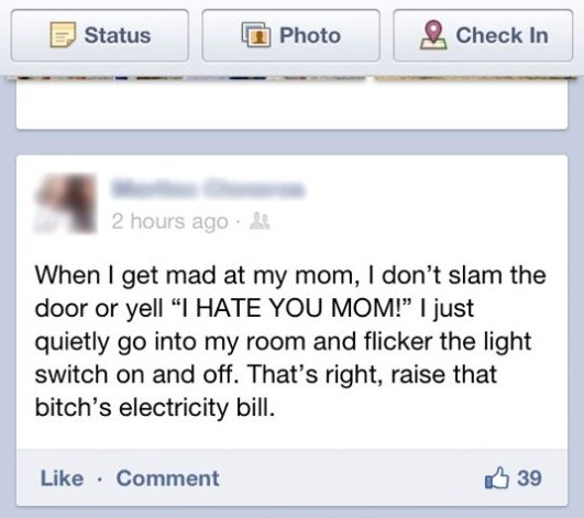 When I get mad at mom…