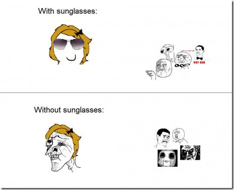 With and Without Sunglasses