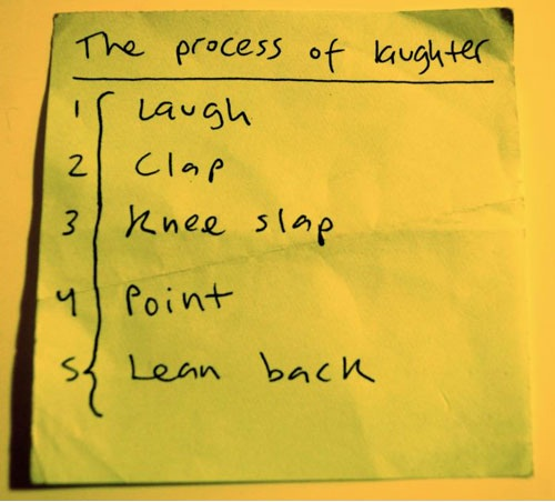 The Process of Laughter