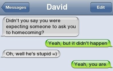 Funny Text – Homecoming