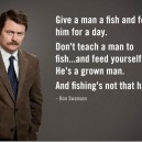 Give a man a fish and…