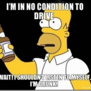 In no condition to drive