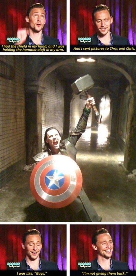 Loki got finally got them!
