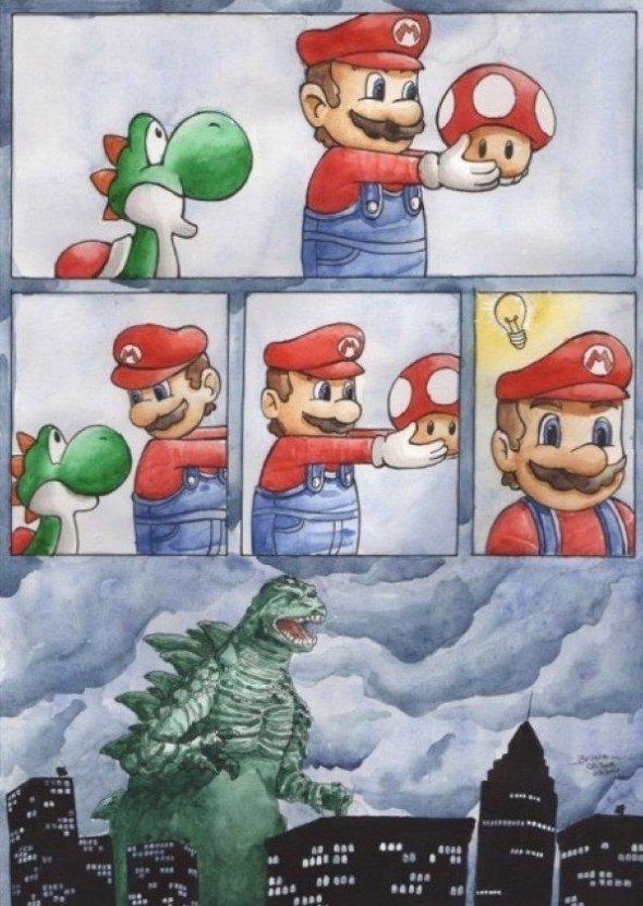 Mario made a mistake…