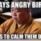 Plays Angry Birds…