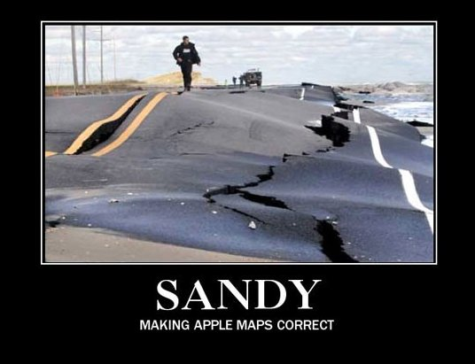 Sandy – Making Apple Maps Correct