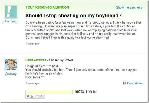 Should I stop cheating on my BF?