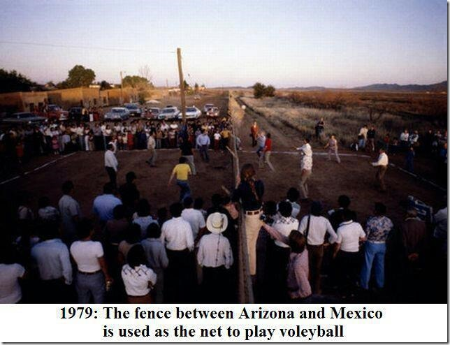 The fence between Arizona and Mexico