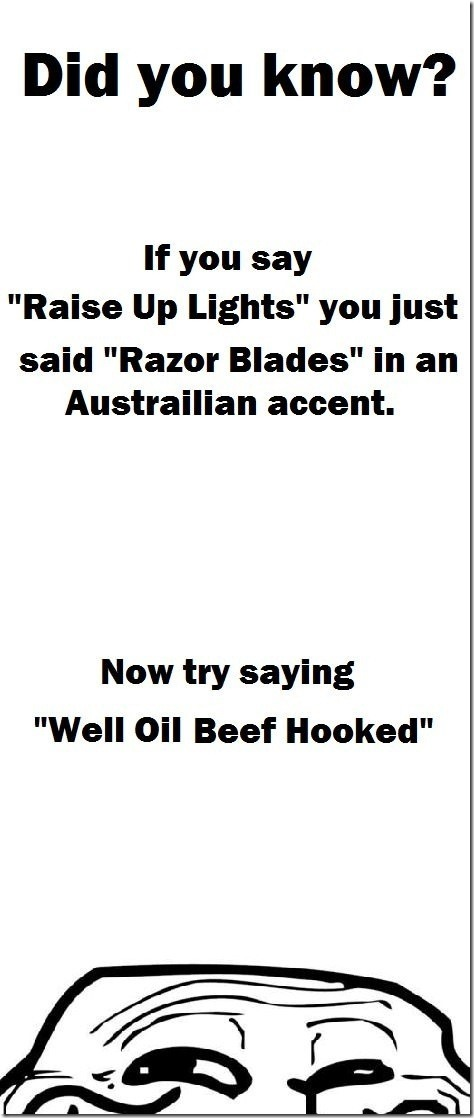 The thing about the Australian Accent