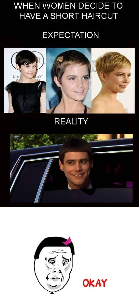 When women decide to have a short haircut