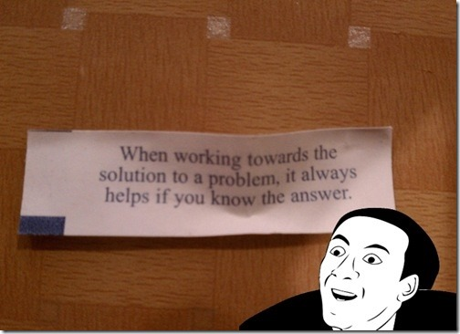 When working towards the solution…