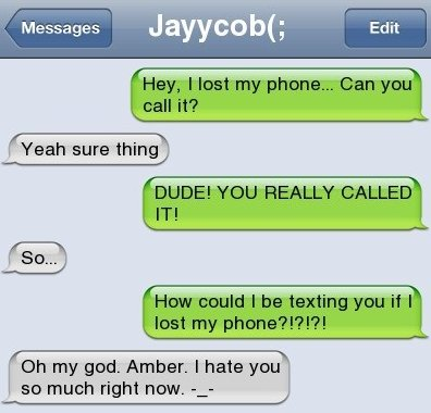 SMS – I Lost My Phone