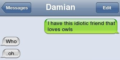 Funny SMS – Owl