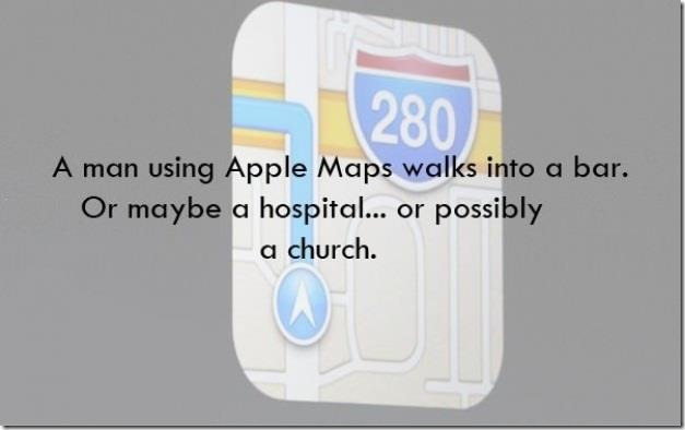 A man using Apple Maps walks into a bar…