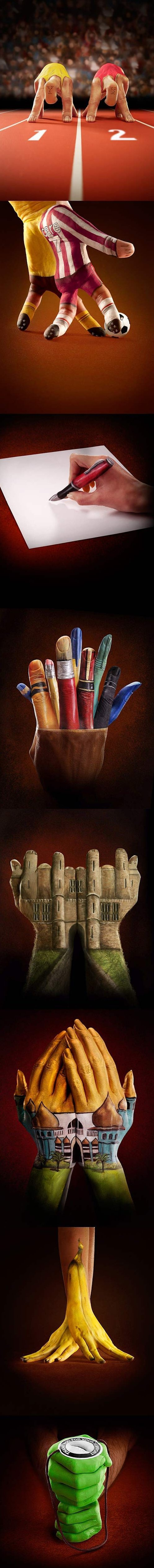 Awesome Hand Paintings by Ray Massey