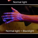 Blacklight tattoo