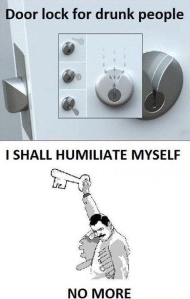 Door lock for drunk people