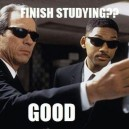 Every time I try to study hard